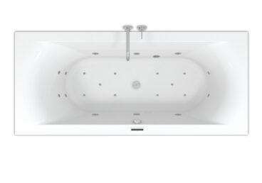 Riho Lima Easypool ligbad 170x75cm met whirlpool systeem LED verlichting, 6+4+2 hydro en 10 aero jets