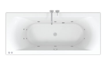 Riho Lima Easypool ligbad 180x80cm met whirlpool systeem 6+4+2 hydro jets