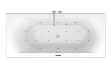 Riho Lima Easypool ligbad 180x80cm met whirlpool systeem LED verlichting, 6+4+2 hydro en 10 aero jets