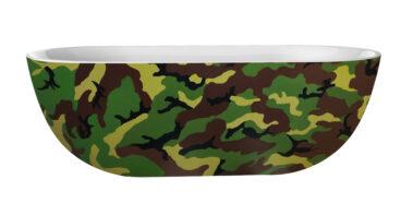 Best Design Camouflage vrijstaand bad 180x86x60cm