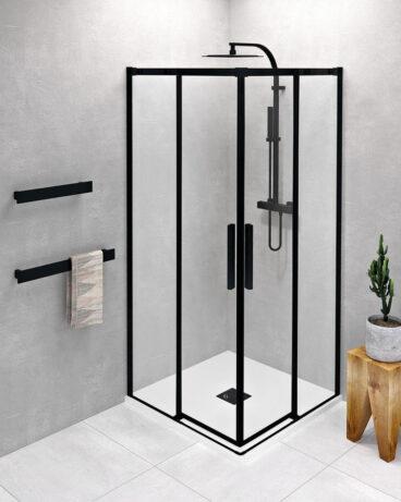 Polysan Altis douchecabine 80x80cm mat zwart