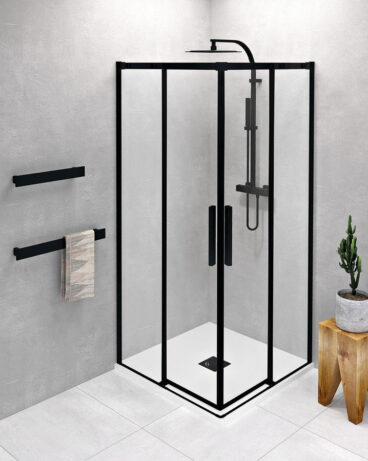 Polysan Altis douchecabine 90x90cm mat zwart
