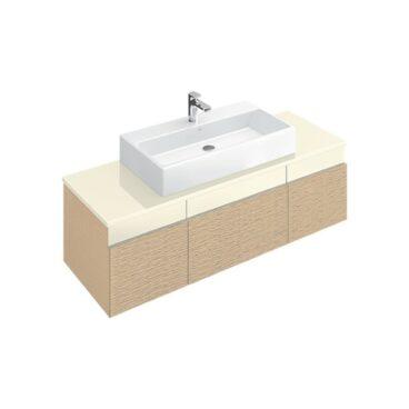 Villeroy & Boch Memento 2.0 wastafel 50x42 cm onderzijde geslepen zonder overloop zonder kraangat CeramicPlus, mat wit