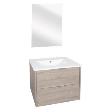 Differnz Bolo badkamermeubel 60cm licht eiken met spiegel