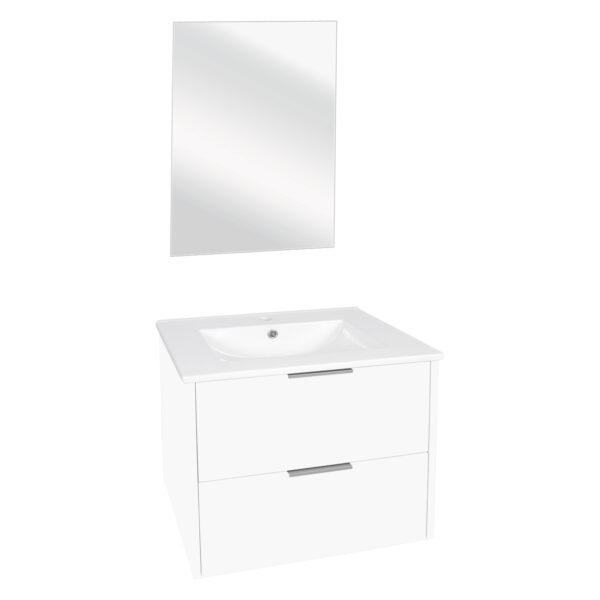 Differnz Bolo badkamermeubel 60cm wit met spiegel