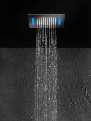 Hotbath Mate M172 inbouw hoofddouche met LED vierkant 30cm geborsteld nikkel