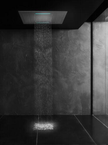 Hotbath Mate M173 inbouw hoofddouche met LED, waterval en spray 95cm geborsteld nikkel