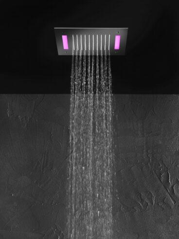 Hotbath Mate M174 inbouw hoofddouche met LED vierkant 30cm geborsteld nikkel