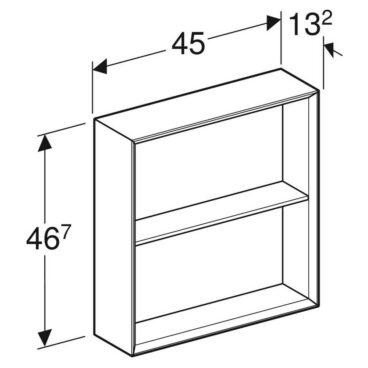 Geberit iCon kast open 45x46,7 cm, zandgrijs