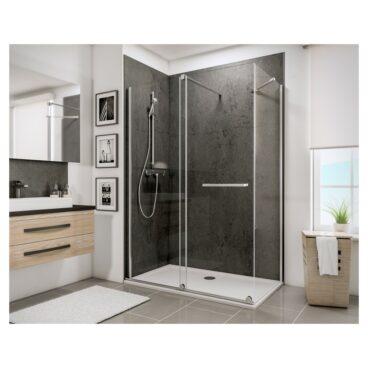 HSK Aperto schuifdeur voor nis montagezijde links 120 x 200 cm, ESG helder glas, chroom