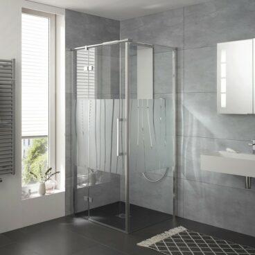 HSK Atelier Plan zijwand voor draaideur (excl.), 90x200cm, zwart-mat