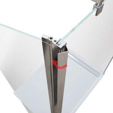 HSK Flipper element 400 x 2000 mm, veiligheidsglas, geschikt voor 6 mm-inloopdouches, chroom