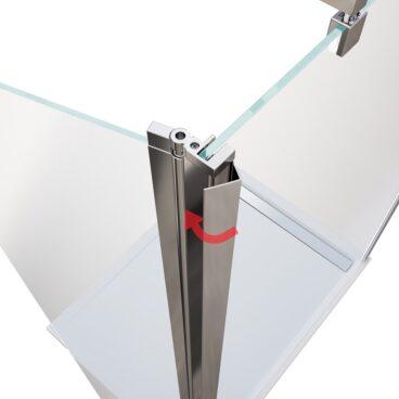 HSK Flipper element 400 x 2000 mm, veiligheidsglas, geschikt voor 8 mm-inloopdouches, chroom