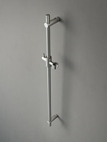 Hotbath Cobber losse glijstang met handdouchehouder 90 cm, mat wit