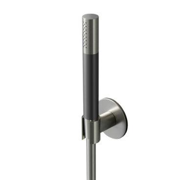 Hotbath Cobber wand handdouchehouder 7 x 7 x 5 cm, glans nikkel