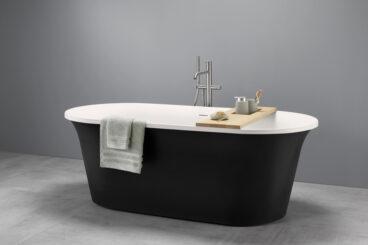 OP=OP! Alterna Garda vrijstaand bad 170x78cm zwart wit