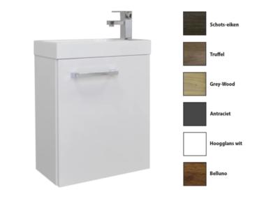 Sanicare Q40 toiletmeubel met spiegel 40 cm belluno