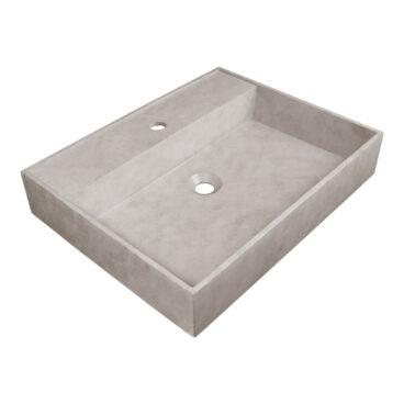 Sanituba Beton wastafel met kraangat 60cm