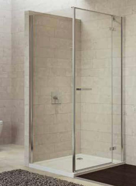 Sealskin Gallery 3000 zijwand 900 mm br 1950 mm hg (incl. muurprofiel, voor comb. met draaideur), chroom zilver hoogglans helder glas