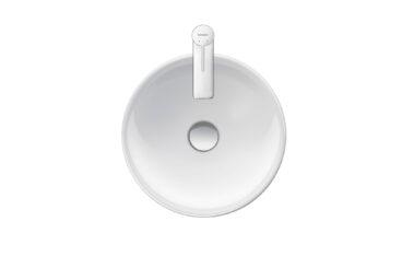 Duravit D-Neo opzetwastafel 400 mm, hoogglans wit