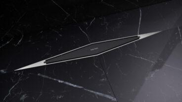 Easy Drain Diamond TAF complete douchegootset, lengte 73 cm, zwart