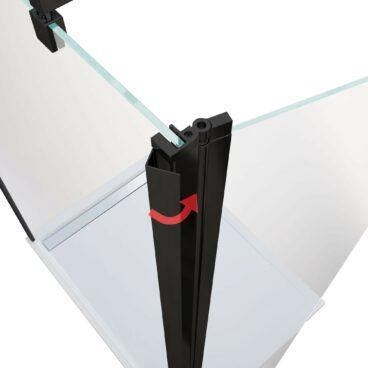 HSK Flipper element 400 x 2000 mm, veiligheidsglas, geschikt voor 8 mm-inloopdouches, matzwart