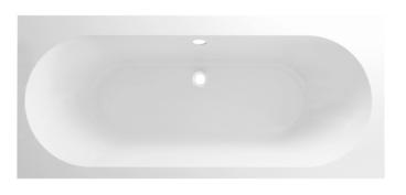 Mueller Porto Duo inbouw ligbad 180x80cm mat wit