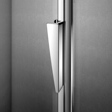 Sealskin Pura 5000 draaideur incl. vastdeel r.draaiend 900 mm br 2000 mm hg (voor comb. met zijwand l.uitvoering, gemonteerd op een douchebak), chroom