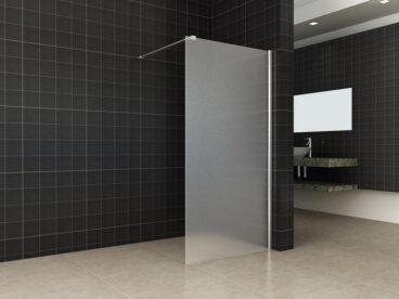 Wiesbaden inloopdouche 90 cm 10 mm gesatineerd NANO-coating, chroom