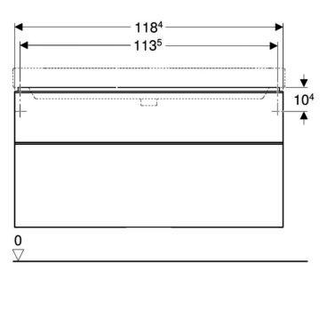 Geberit iCon wastafelonderkast 1 lade 74x47,6 cm, zandgrijs