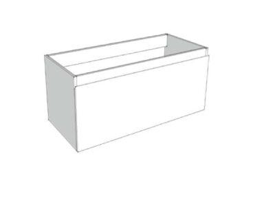 Riverdale wastafelonderkast greeploos hout decor enkele lade softclose met recht front 70x35x45 cm, zonder bovenblad, zilver eiken