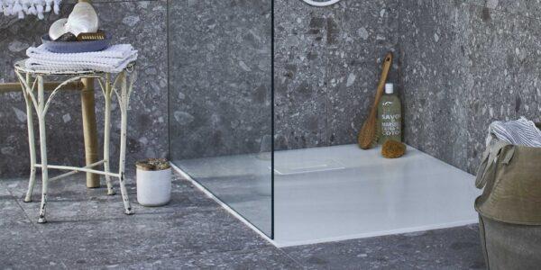 Vt wonen baden Slab douchebak 120x90cm, powder white