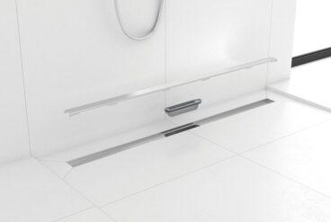 Easydrain Compact douchegoot 30 clean zero dryphon 70 cm, geborsteld roestvrij staal