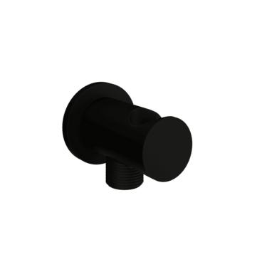 vtwonen Solid handdouchehouder met doucheslangaansluiting 5 x 7 cm, mat zwart