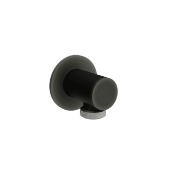 vtwonen Solid wandaansluitbocht, zwart staal