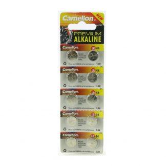 Batteri Alkaline 1,5V LR 44 knappcells 10-pack Camelion