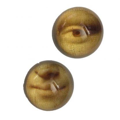 Mona Lisa Mun retro Pappersvikt i glas 8 cm
