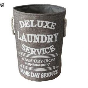 Läcker grå hopfällbar tvättkorg i shabby chic stil