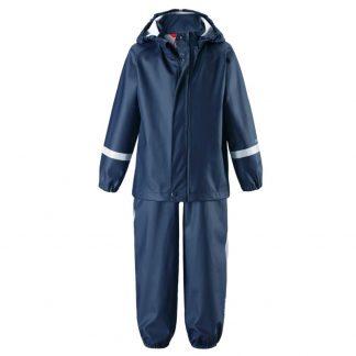 Reima regnställ barn jacka och byxor Tihku Mörkblå strl 92