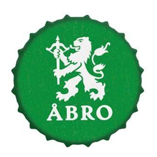 En plåtskylt jätte kapsyl med öl logo breweriana 40 cm Åbro