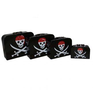 1 st Piratväska med dödskalle Jolly Roger 30x23x12 cm