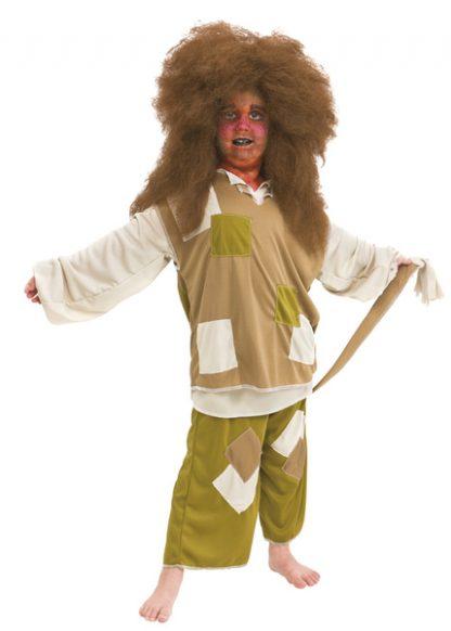 Maskeraddräkt troll för barn strl 110-116
