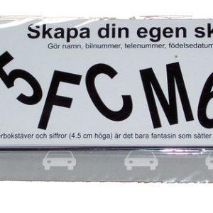 Namnskylt trafikskylt barnvagn rum skapa fritt bokstäver siffror