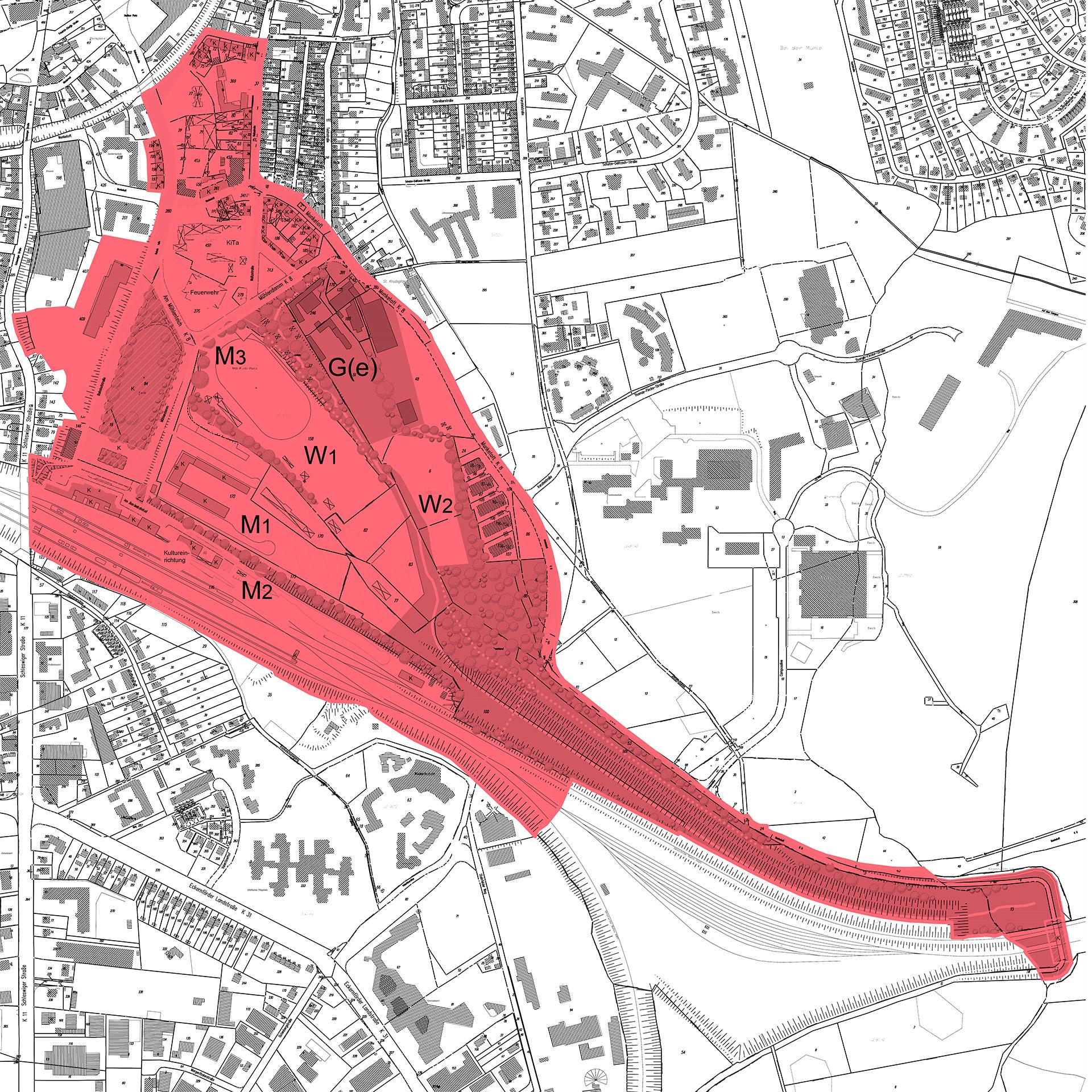 Gebiet des Bahnhofsviertels Flensburg