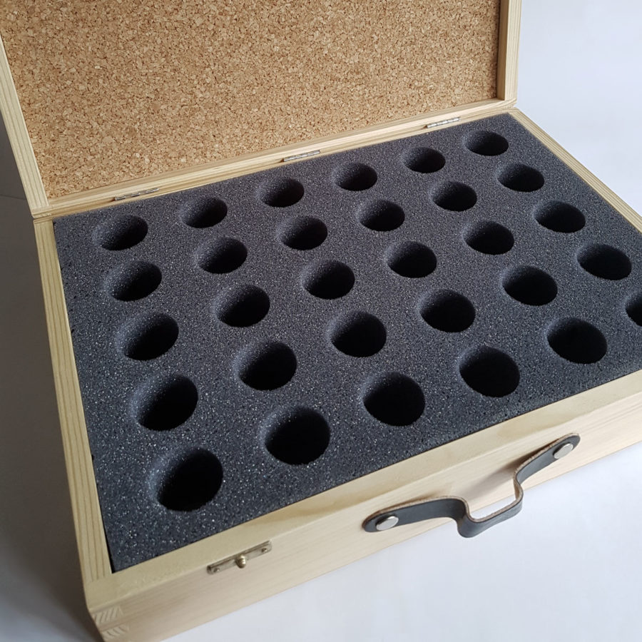 Wooden Pendulum Case with Foam Insert