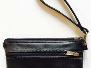 Håndlavet clutch i genanvendt skind fra BAKANO design