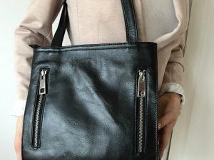 Bæredygtig shopper i læder