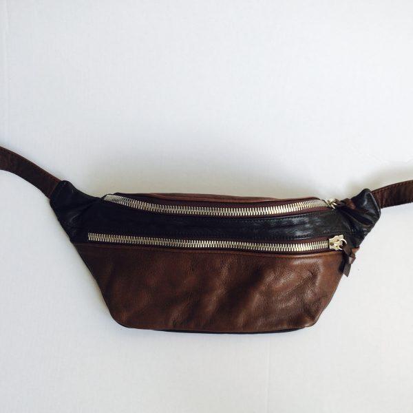 Håndlavet bumbag i genanvendt skind fra BAKANO design