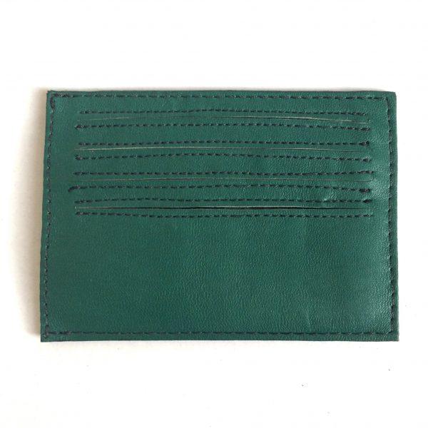 Håndlavet kortholder i genanvendt skind fra BAKANO design