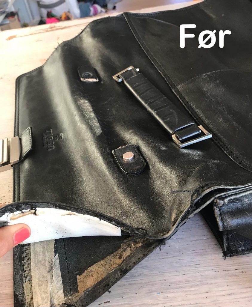 reparation af lædertaske